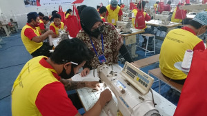 Puluhan WBP Ikuti Pelatihan Menjahit Garmen