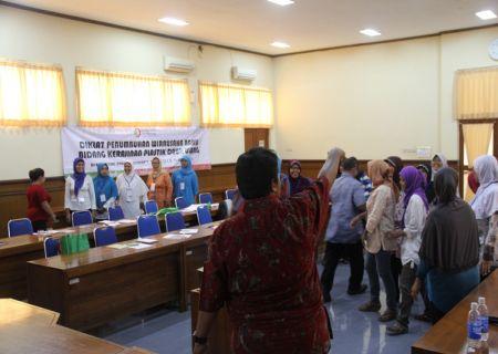 Suasana pemberian materi Motivasi Kewirausahaan oleh Widyaiswara BDI Yogyakarta