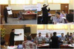 Materi pelatihan terdiri dari : Merencanakan Penyajian, Melaksanakan Tatap Muka dan Mengases Kompetensi
