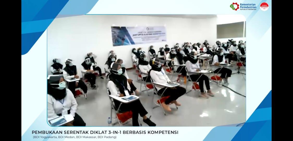 Pembukaan Serentak Diklat 3-in-1 Berbasis Kompetensi di 4 Balai Diklat Industri.
